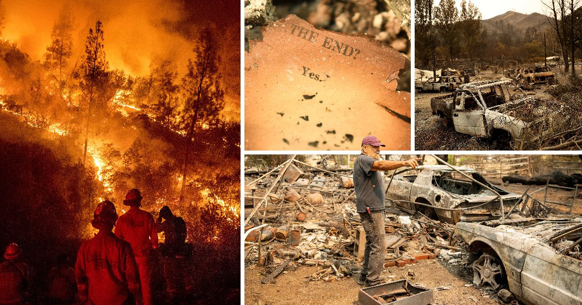 Shocking images show widespread damage in California caused by wildfires