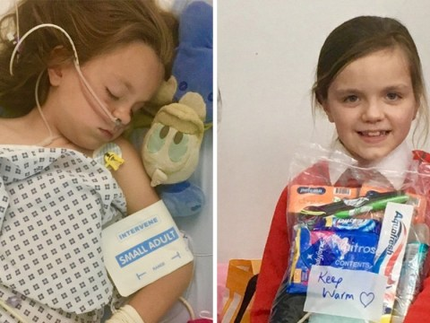 Schoolgirl who campaigned to help homeless left in coma after suffering stroke