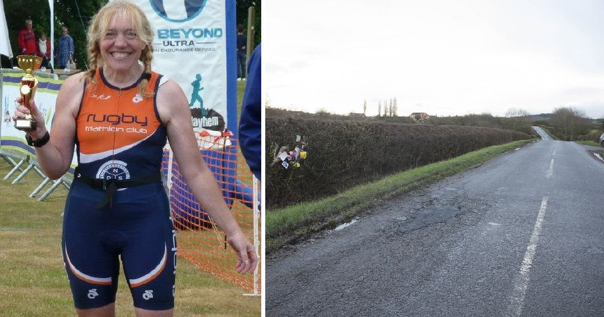 Triathlete died when her bike hit a pothole and she was thrown into the path of a car