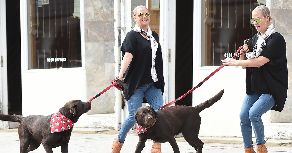 Lisa Armstrong reunited with beloved dog Hurley as she takes over from ex Ant McPartlin