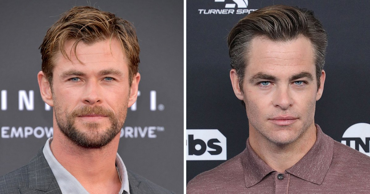 Chris Hemsworth and Chris Pine