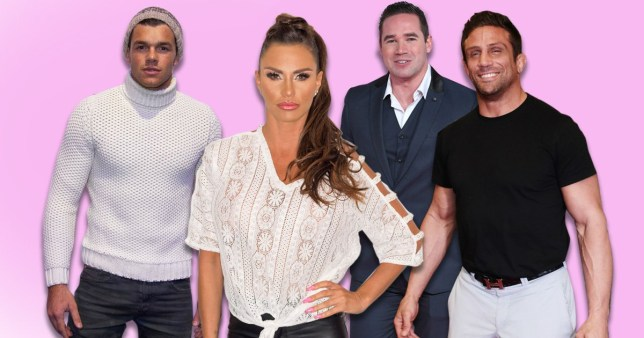 Katie Price and exes Leandro Penna, Kieran Hayler and Alex Reid