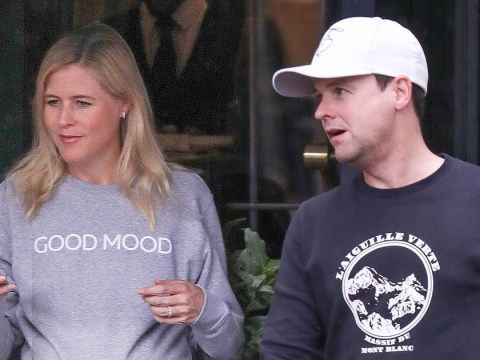 Declan Donnelly's pregnant wife Ali Astall shows off her 'good mood' and growing baby bump weeks before due date