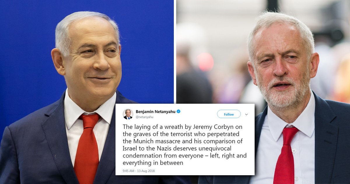 Israeli PM blasts Jeremy Corbyn for 'laying wreath on the graves of terrorists'