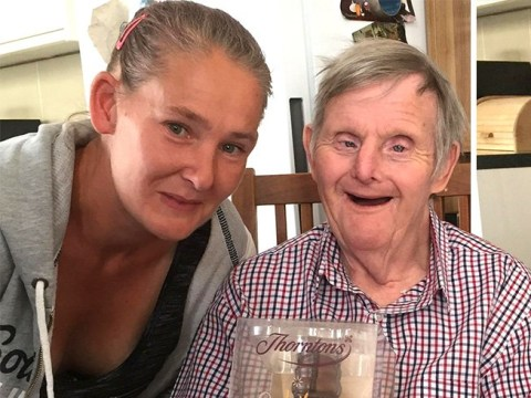 Man with Down's Syndrome celebrates his 72nd birthday