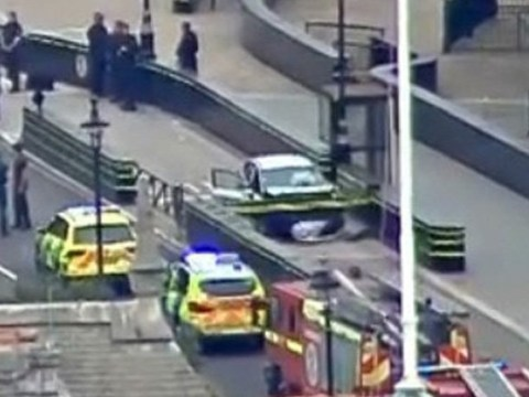 London roads on lockdown after car crashes outside Parliament