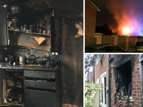 Husband forced to choose between saving wife and dog from house fire