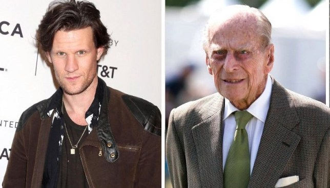 Prince Philip and his onscreen counterparts, Matt Smith and Tobias Menzies