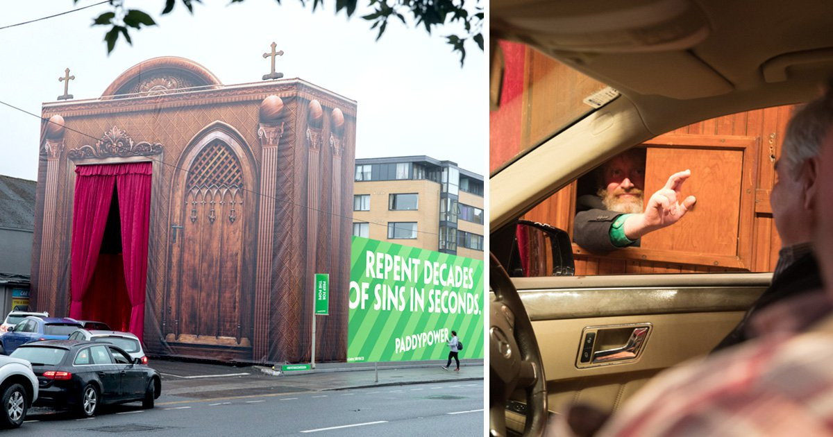 Huge drive-thru confession box erected in Dublin ahead of Pope visit