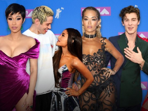 MTV VMAs 2018: Cardi B and Shawn Mendes stun on red carpet as Ariana Grande and Pete Davidson pack on PDA