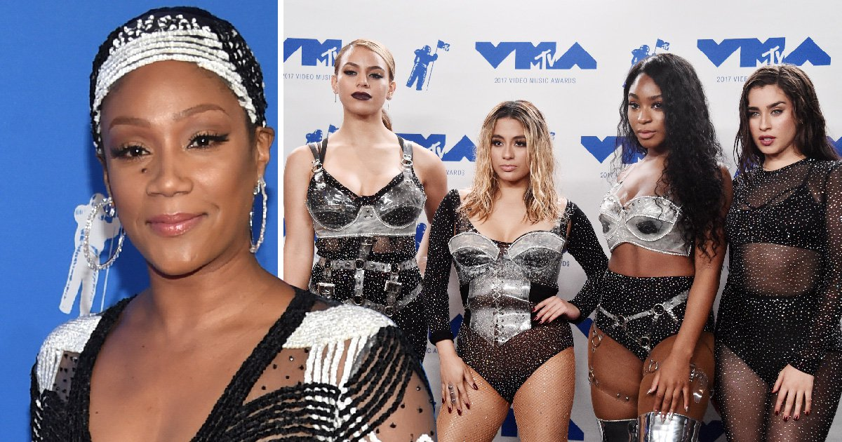Tiffany Haddish shades Fifth Harmony for watching the VMAs at home while Camila Cabello collects top solo gongs