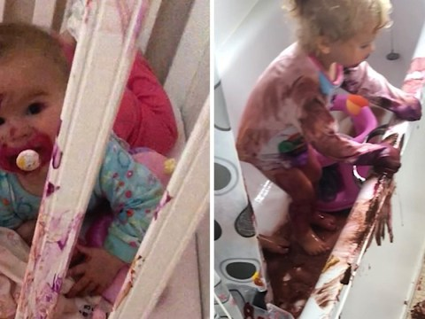 Toddlers cover the house in paint in the ten minutes their mum did laundry