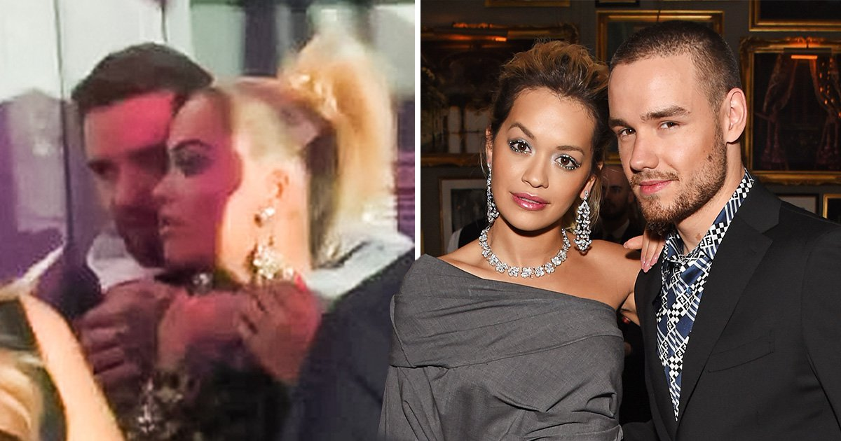 Liam Payne and Rita Ora wrap arms around each other as they get cosy behind the scenes of VMAs