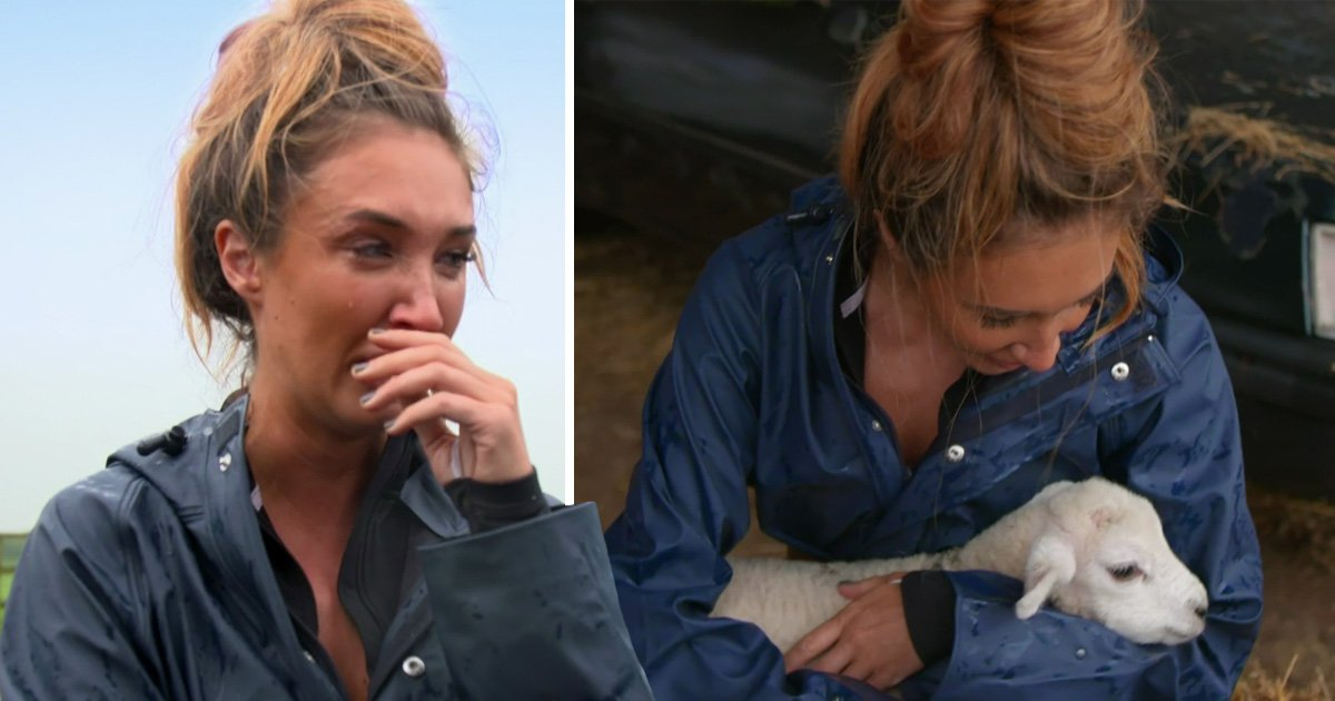 Megan McKenna has a meltdown over baby lambs on Celebs On The Farm