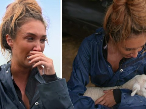 Megan McKenna has a meltdown over baby lambs on Celebs On The Farm