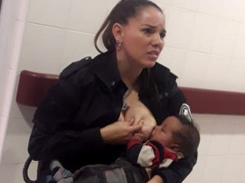 Police officer promoted to sergeant after photos of her breastfeeding baby go viral