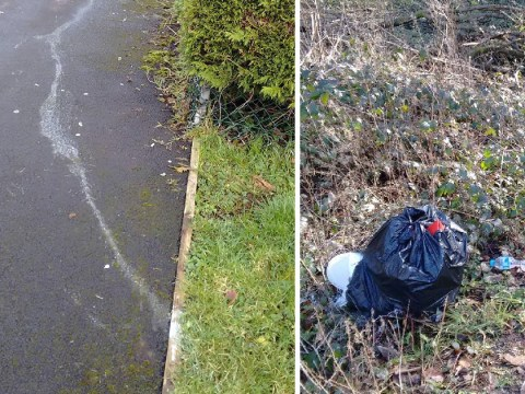 Fly-tipper busted after leaving trail of paint from rubbish to his front door