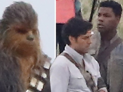 Star Wars Episode 9 filming pictures tease scene with Chewbacca, Oscar Isaac and John Boyega