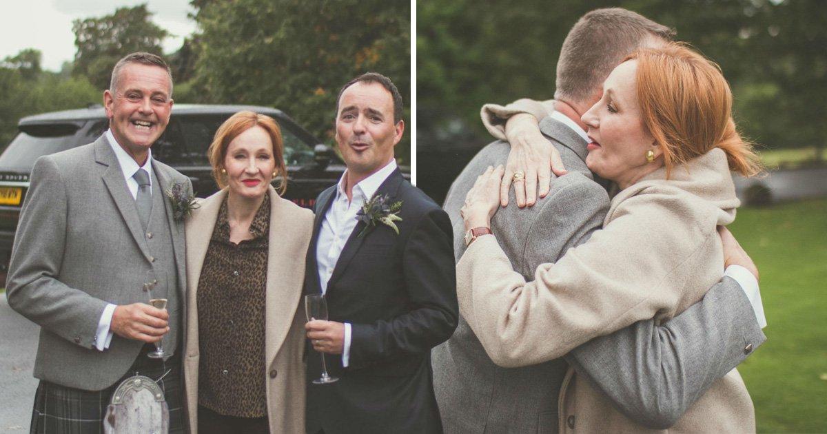 JK Rowling leaves Scottish newlyweds spellbound after photobombing wedding shoot