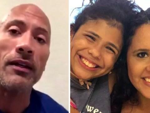 Dwayne Johnson records heartfelt message for mum and daughter killed in horror car crash