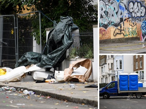 Massive Notting Hill Carnival clean-up begins after two days of partying
