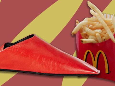 People think these Balenciaga shoes were inspired by McDonald's fries packets