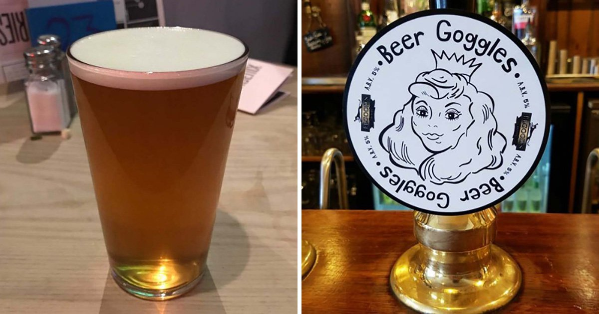 'Beer Goggles' label on bar's pump caused a lot of offence