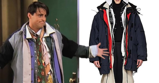 detailed look d7646 47a41 Balenciaga is selling a Joey Tribbiani inspired parka for ...