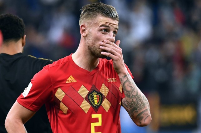 Belgium's Toby Alderweireld reacts after the semi final match between the French national soccer team 'Les Bleus' and Belgian national soccer team the Red Devils, in Saint-Petersburg, Russia, Tuesday 10 July 2018. DIRK WAEM