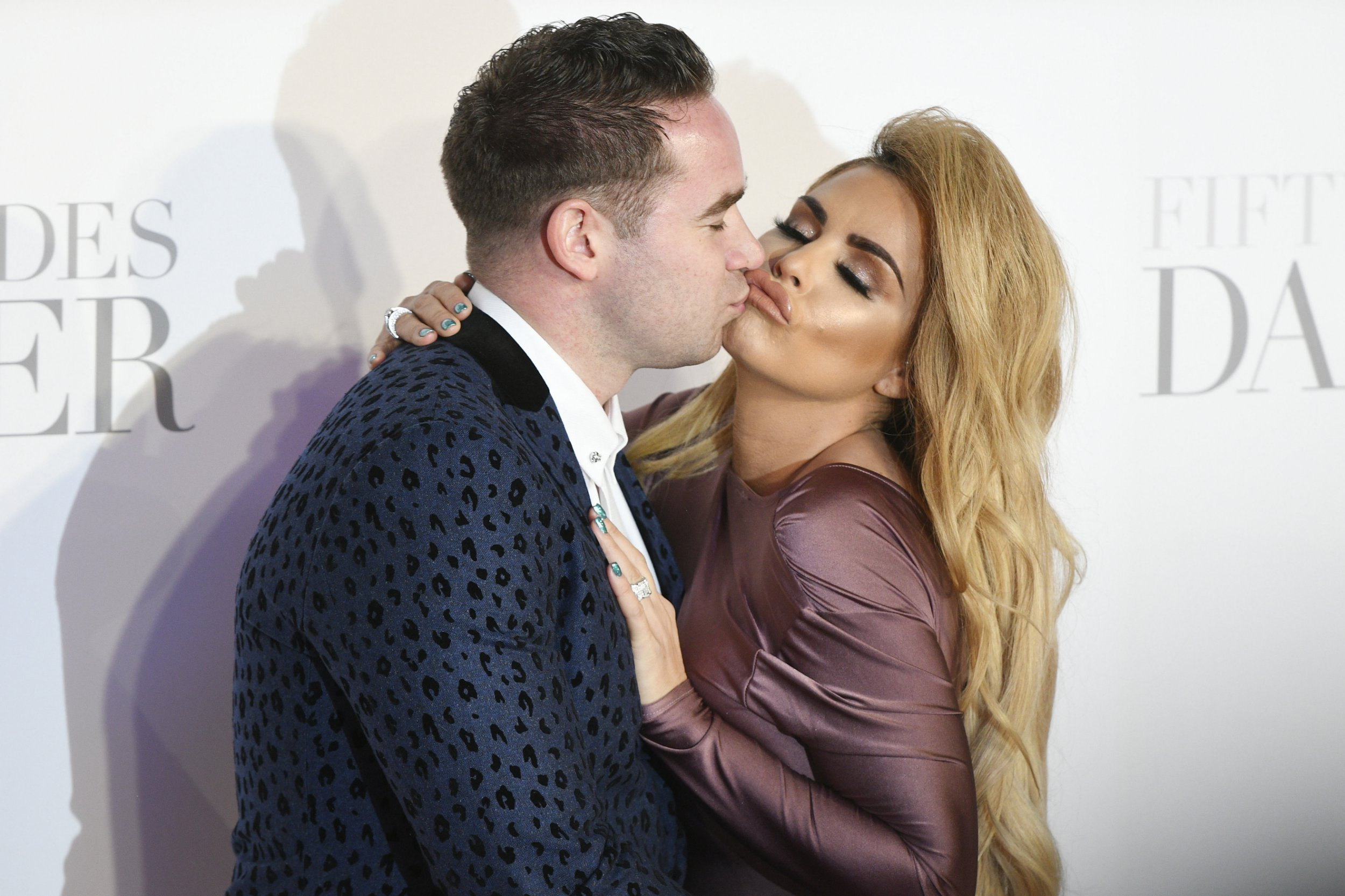 February 9, 2017 - London, London, UK - Kieran Hayler and Katie Price attend the Fifty Shades Darker UK Film Premiere at Odeon Leicester Square. (Credit Image: ???? Ray Tang via ZUMA Wire)