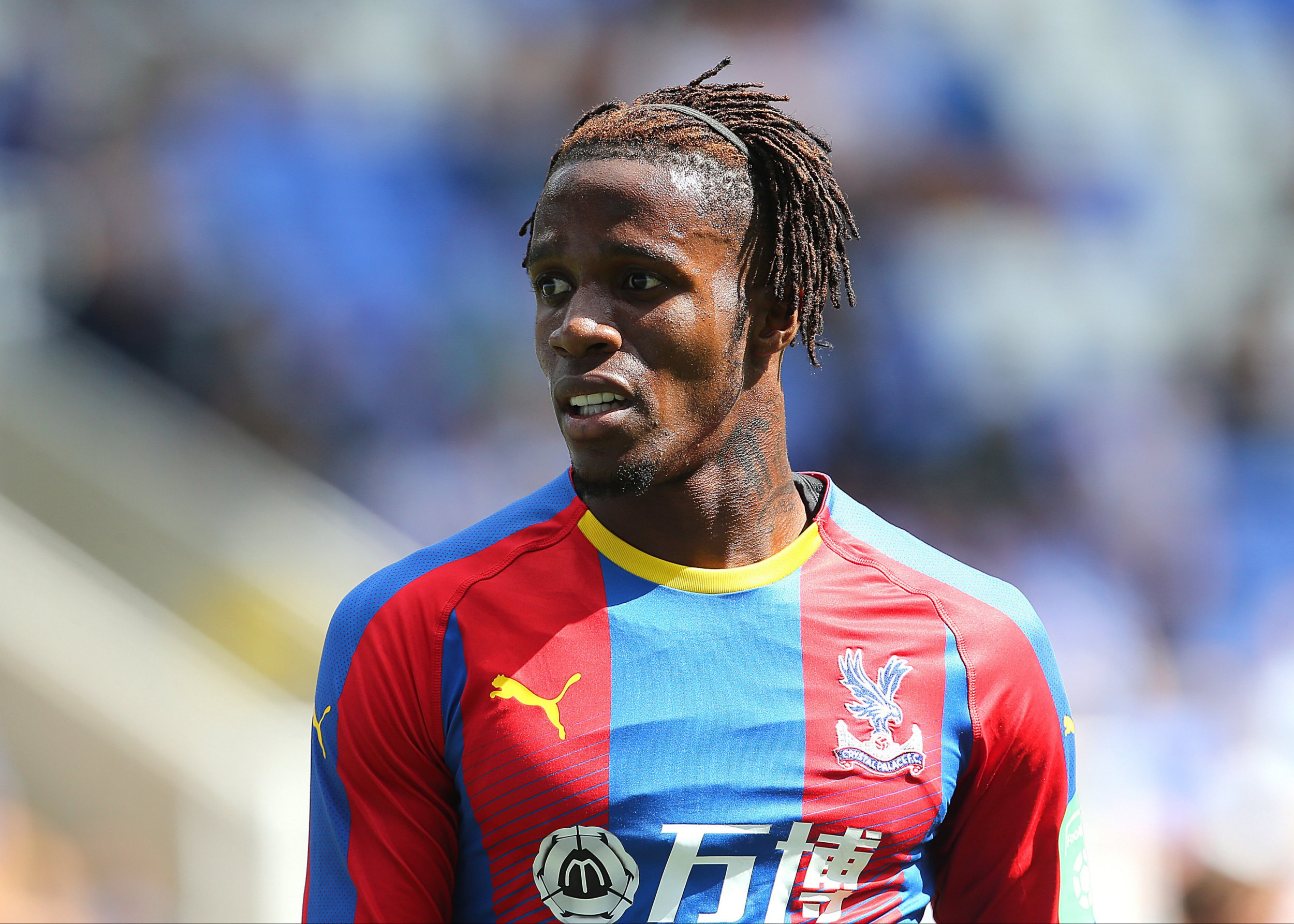 "Crystal Palace's Wilfried Zaha during the pre-season friendly match at the Madejski Stadium, Reading. PRESS ASSOCIATION Photo. Picture date: Saturday July 28, 2018. See PA story SOCCER Reading. Photo credit should read: Mark Kerton/PA Wire. RESTRICTIONS: EDITORIAL USE ONLY No use with unauthorised audio, video, data, fixture lists, club/league logos or ""live"" services. Online in-match use limited to 75 images, no video emulation. No use in betting, games or single club/league/player publications."