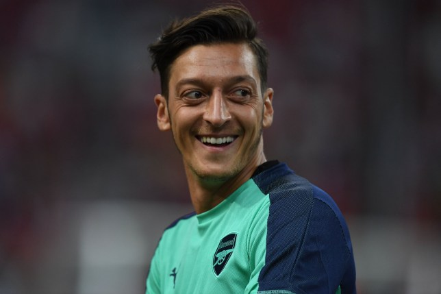 SINGAPORE - JULY 28: Mesut Ozil of Arsenal before the International Champions Cup match between Arsenal and Paris Saint Germain at the National Stadium on July 28, 2018 in Singapore. (Photo by Stuart MacFarlane/Arsenal FC via Getty Images)