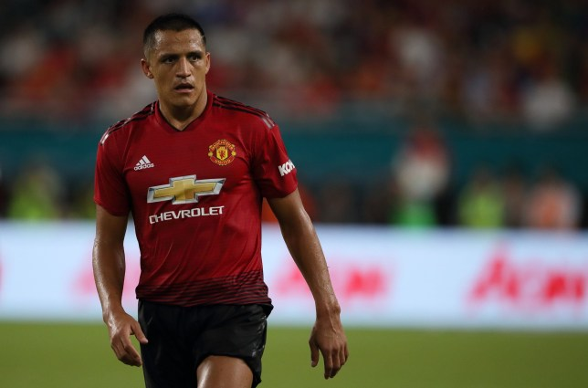 MIAMI, FL - JULY 31: Alexis Sanchez of Manchester United during the International Champions Cup 2018 fixture between Manchester United v Real Madrid at Hard Rock Stadium on July 31, 2018 in Miami, Florida. (Photo by Matthew Ashton - AMA/Getty Images)