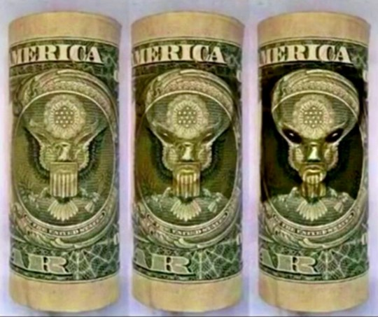METRO GRAB - taken from the UFOsightingsdaily site no permissionIs there an 'alien overlord' on dollar bills?http://www.ufosightingsdaily.com/2018/08/evidence-that-alien-overlord-has.htmlScott C. Waring/ufosightingsdaily