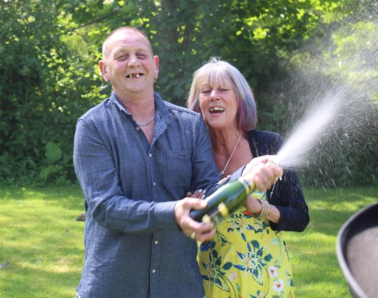 EAST ANGLIA NEWS SERVICE, tel. 07767 413379 Plasterer Matthew Fairfull, 62, known as Matt Fairfull who has been fined ??500 for beating up wife Marilyn, 62, pictured with her in May when she won a ??1million lottery scratch card