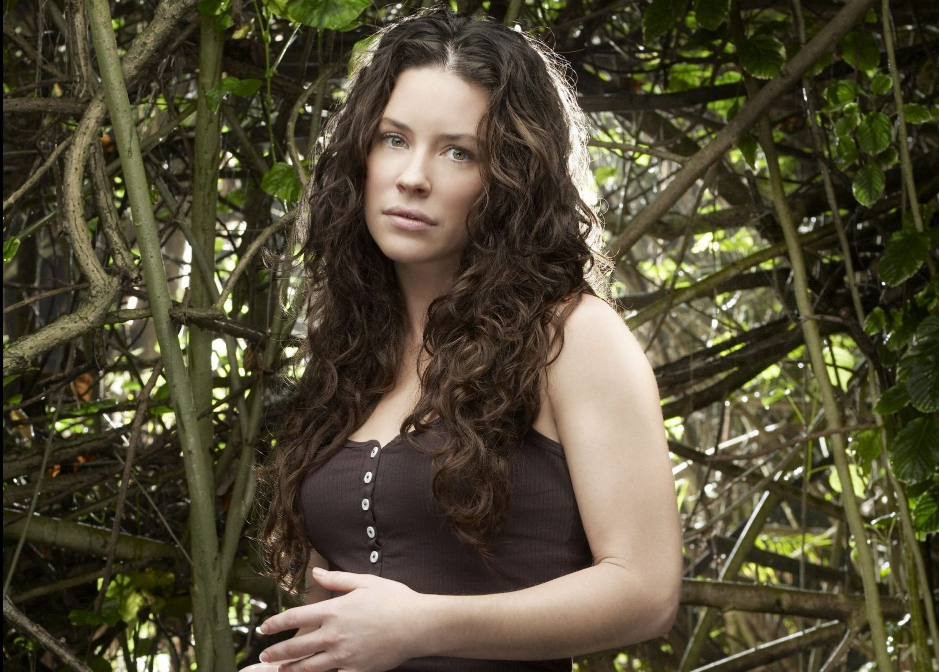 No Merchandising. Editorial Use Only. No Book Cover Usage Mandatory Credit: Photo by Snap Stills/REX/Shutterstock (2052176g) Evangeline Lilly Lost Season 4 - 2008