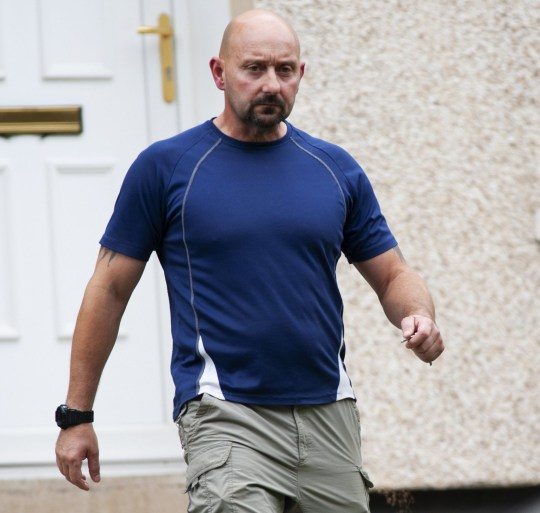 ***Embargoed until 1pm 05 August 2018*** Online usage fee ?75 per picture. Online Set fee ?300. Print fee ?150 per photo.*** Ex Police officer Stephen Mitchell moved from Glasgow to Newcastle and was convicted of raping several woman while there, he's now been released and is back in Glasgow living with his mum