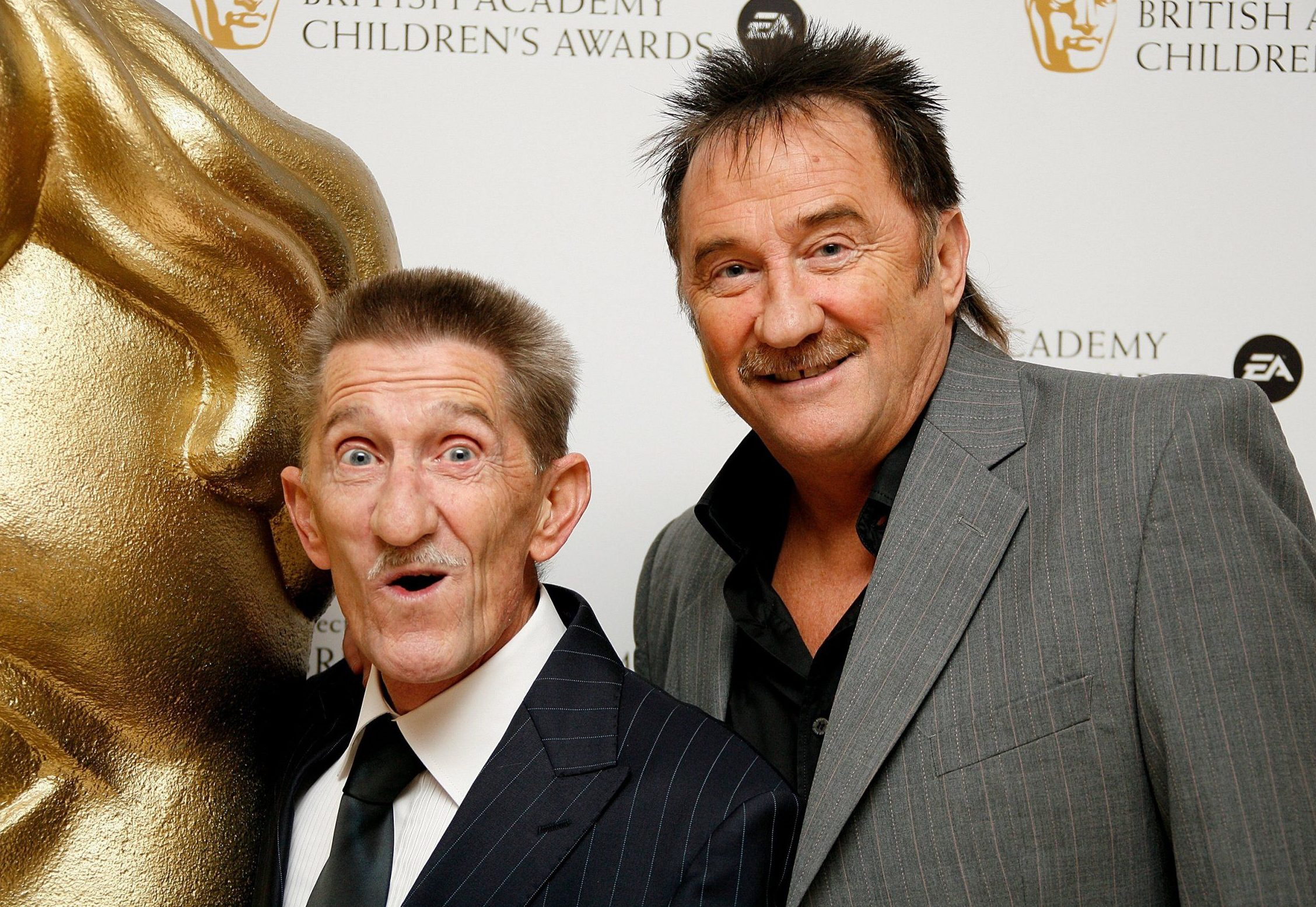 LONDON - NOVEMBER 30: (UK TABLOID NEWSPAPERS OUT) Barry Elliot and Paul Elliot, aka The Chuckle Brothers, arrive at the British Academy Children's Film and Television awards at the London Park Lane Hilton, Park Lane on November 30, 2008 in London, England. (Photo by Gareth Davies/Getty Images) The entertainer, whose real name was Barry Elliott, half of the comedy duo the Chuckle Brothers, has died aged 73.