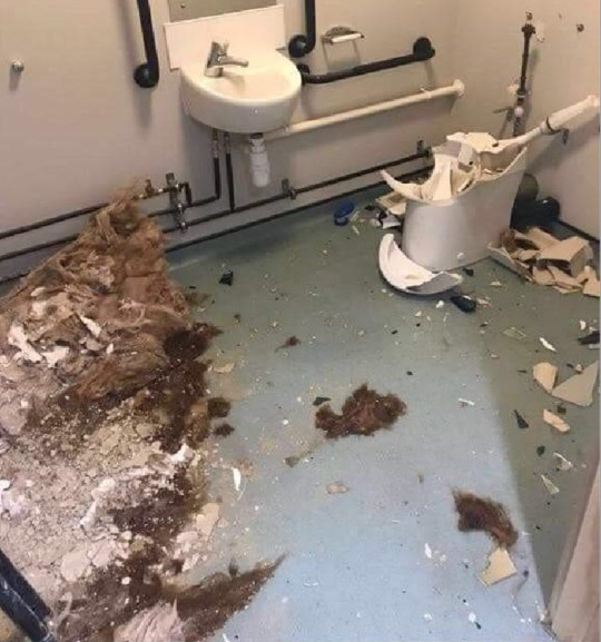 Army captain smashes out of toilet after being locked in naked for hours Picture provided by Mark Nicol, Defence Editor at MOS Credit: Mail on Sunday