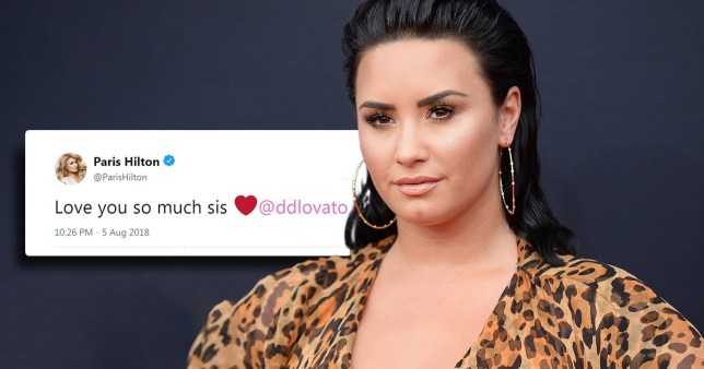 Picture: Rex, @ParisHilton Celebrities respond to Demi Lovato as she breaks silence on apparent overdose