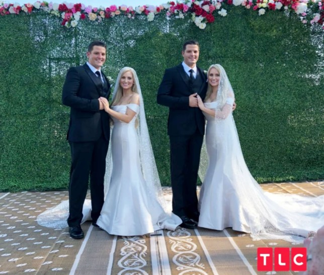 'Double Fairy Tale!' Identical Twin Sisters Marry Identical Twin Brothers in Joint Ceremony - Identical twin sisters Brittany and Briana Deane have long dreamed of marrying identical twin brothers. Now, their childhood wish has come true. On Saturday, Brittany and Briana (now Salyers), 32, wed Josh and Jeremy Salyers, 34, in a joint ceremony at the 2018 Twins Days Festival in Twinsburg, Ohio ? where they first met a year ago. The couples were married by identical twin ministers in the ceremony themed ?Twice Upon a Time.? ?It?s really been a fairy tale come true. Marrying twins is something that?s very important to us,? Briana (who married Jeremy) tells PEOPLE, describing the ceremony as a ?double fairy tale.? ?Even when we were little girls I can remember being in kindergarten, knowing that that is what we saw for ourselves.? Brittany adds: ?We knew that the chances were incredibly scarce. The stars had to align for our dreams to come true. I get to marry the man of my dreams and at the same time I get to look over next to me and see my twin sister marrying the man of her dreams.?