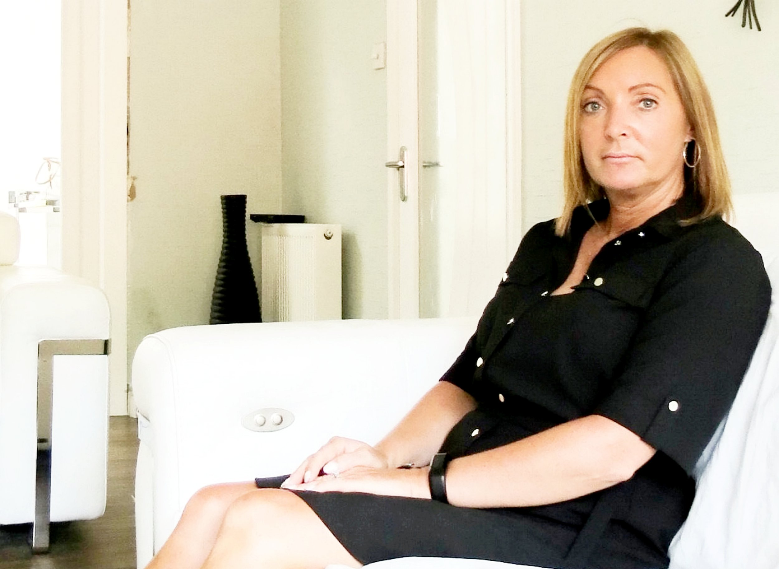 Adele Burns, 47. A mum has started a ??1million landmark legal action against a beauty salon over claims a botched hair treatment caused a STROKE. See CENTRE PRESS story CPHAIR. Adele Burns, 47, suffered the life-changing injury during what was meant to be a special day of pampering. Stylists at Rainbow Rooms in Glasgow washed the nurse???s hair six times after failing to get the colour right. But less than 24 hours later Adele suffered a massive stroke which medics linked to her head being repeatedly pulled backwards into the salon basin which also allegedly did not have protective padding. Adele from Mid Calder, West Lothian now hopes the court action ??? the first of its kind in Scotland ??? will hold parlour bosses accountable and improve standards to protect the public.