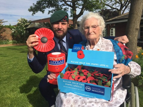 Longest-serving poppy seller, 103, given MBE after collecting for 97 years