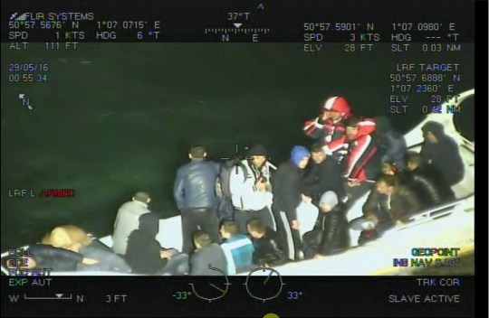BEST QUALITY AVAILABLE Undated handout photo issued by National Crime Agency of the rescue of 18 migrants aboard the White Scanner which began to sink off the UK coast. PRESS ASSOCIATION Photo. Issue date: Tuesday August 7, 2018. The bungling people-smugglers behind a hare-brained scheme to bring migrants across the English Channel on jet skis are facing jail after they were found guilty of conspiring to breach immigration law. See PA story COURTS Jetski. Photo credit should read: National Crime Agency/PA Wire NOTE TO EDITORS: This handout photo may only be used in for editorial reporting purposes for the contemporaneous illustration of events, things or the people in the image or facts mentioned in the caption. Reuse of the picture may require further permission from the copyright holder.