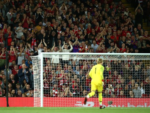 Liverpool fans give Loris Karius a hero's welcome at Anfield in Reds' win over Torino