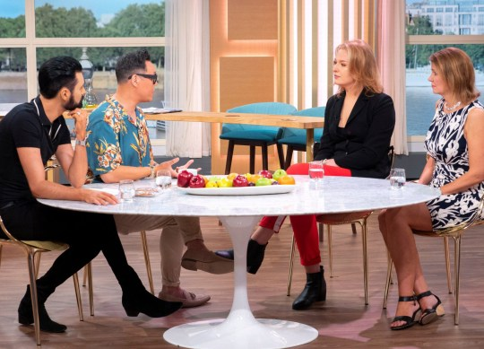 EDITORIAL USE ONLY. NO MERCHANDISING Mandatory Credit: Photo by Ken McKay/ITV/REX/Shutterstock (9784930am) Rylan Clark and Gok Wan with Chloe O'Herlihy and Julia Hartley-Brewer 'This Morning' TV show, London, UK - 08 Aug 2018 THE GINGERBREAD GENDER DEBATE In the week that the UK?s biggest sandwich chain Pret-A-Manger dropped the ?man? from it?s gingerbread in favour of the name ?gingerbread biscuit?, and Woman?s Hour host Jane Garvey called for a ban on the term ?hey guys? when addressing mixed groups, we?re asking? has the gender debate gone too far? Transgender woman Chloe O?Herlihy thinks these things are a step in a positive direction, whist journalist Julia Hartley-Brewer thinks it?s all just one big over reaction.