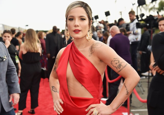 SANTA MONICA, CA - JUNE 16: Singer Halsey attends the 2018 MTV Movie And TV Awards at Barker Hangar on June 16, 2018 in Santa Monica, California. (Photo by Jeff Kravitz/FilmMagic)