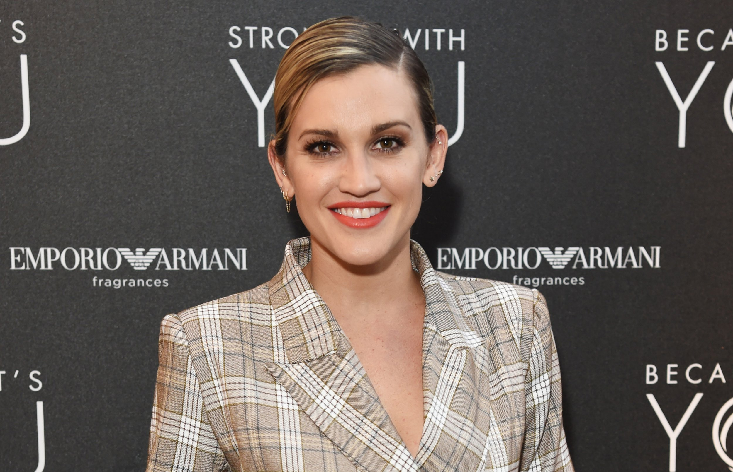LONDON, ENGLAND - JULY 18: Ashley Roberts attends the Emporio Armani Fragrance 'Stronger With You' party at Roast on July 18, 2018 in London, England. (Photo by David M. Benett/Dave Benett/Getty Images for Emporio Armani)
