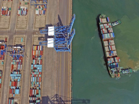 Huge cargo ship has been going round in circles for a month because it was 30 minutes late