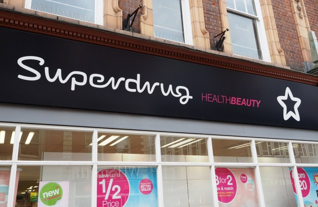 Mandatory Credit: Photo by Geoff Moore/REX/Shutterstock (5682070r) Superdrug High Street store logos, Britain - May 2016